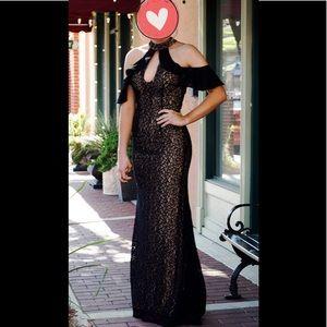 Jovani Prom Dress Black Lace Size 8